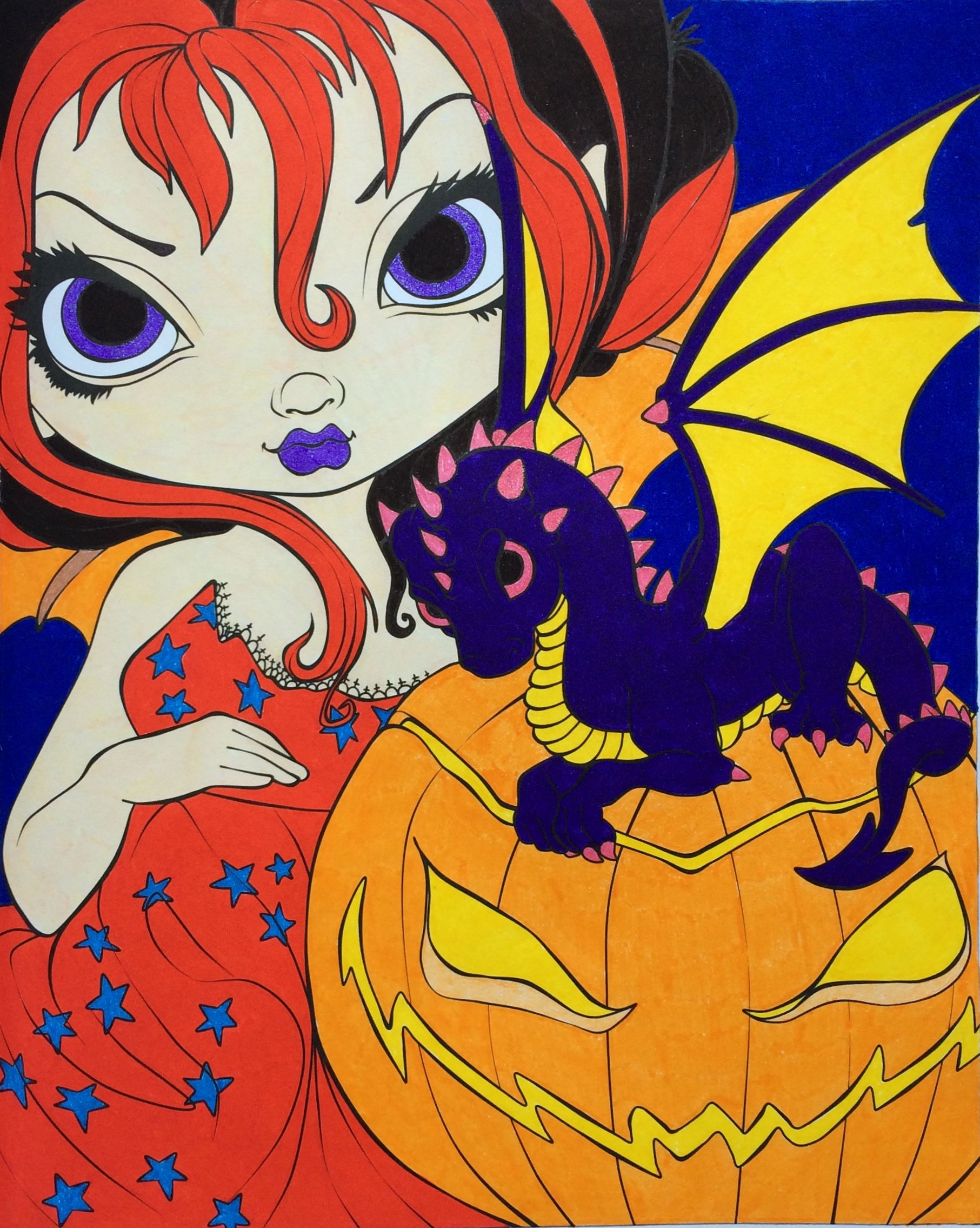 Darling Dragonling 2 Jasmine Becket Griffith Colouring Heaven Halloween Special Coloured By Laura Colouring Heaven Jasmine Becket Griffith Becket