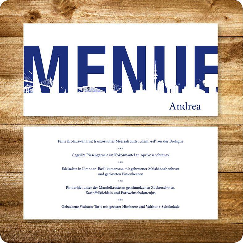 menükarte maritim, hamburg, hochzeit, individuell designed by die, Einladungsentwurf