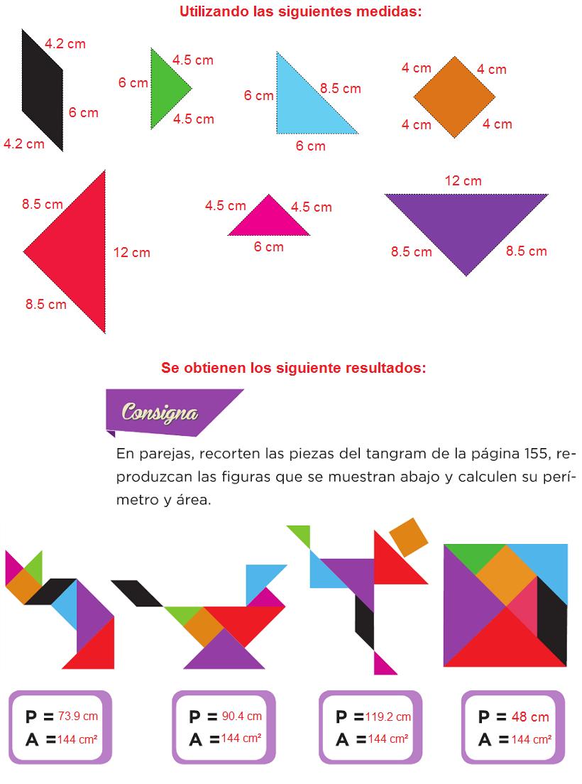 Sexto desafios matematicos juega con el tangram pagina 150 ...