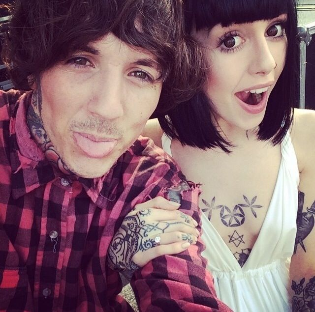 Oli Sykes and his girlfriend | people | Hannah snowdon ...