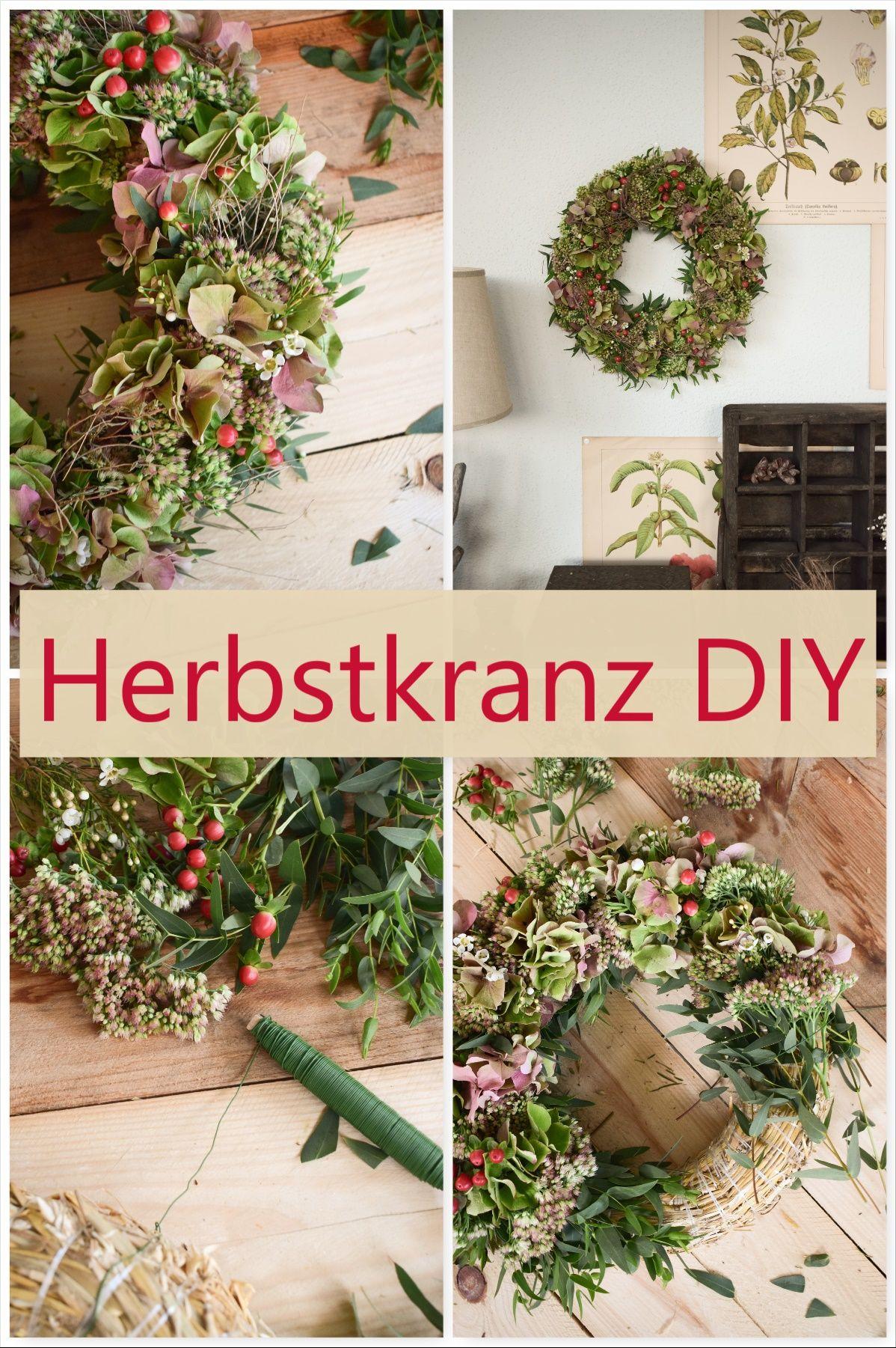 Photo of Make DIY autumn wreath yourself: wreath of hydrangeas, wax flowers, eucalyptus …