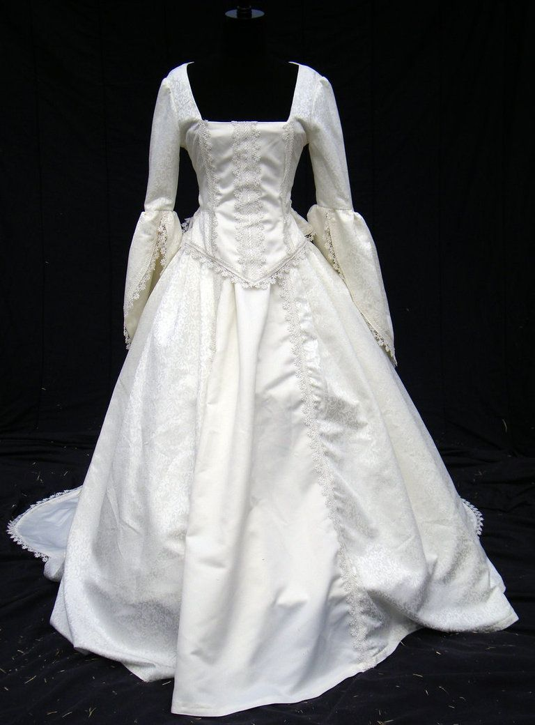 This Is A Wedding Gown Handmade Aside From A Sewing Machine Of