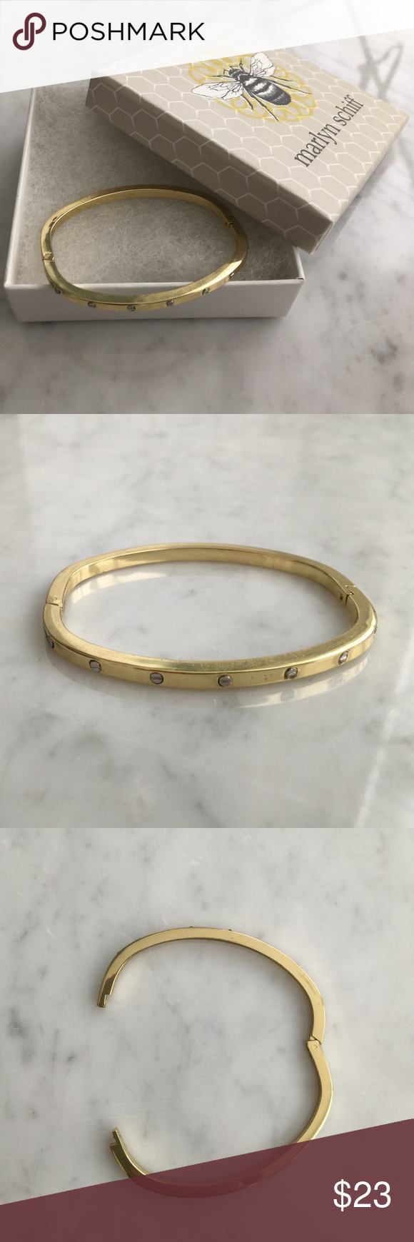 and pin head bracelet nail color bangle gold coach