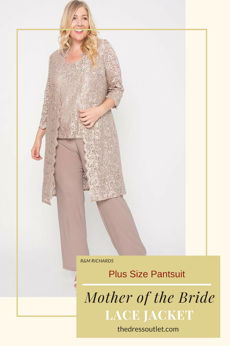 7c12473500acd This modest mother of the bride/groom pant suit features sleeveless, paired  with a