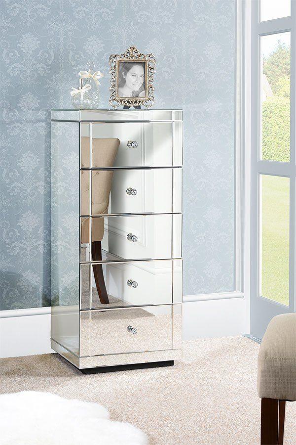 Julianna Verspiegelte Grosse Kommode Mit 5 Schubladen Chelsea Reihe Mirrored Furniture Furniture My Furniture