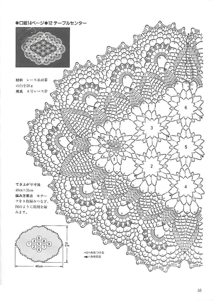 """Photo from album """"Beautiful Crochet Lace"""" on   Vzory ..."""