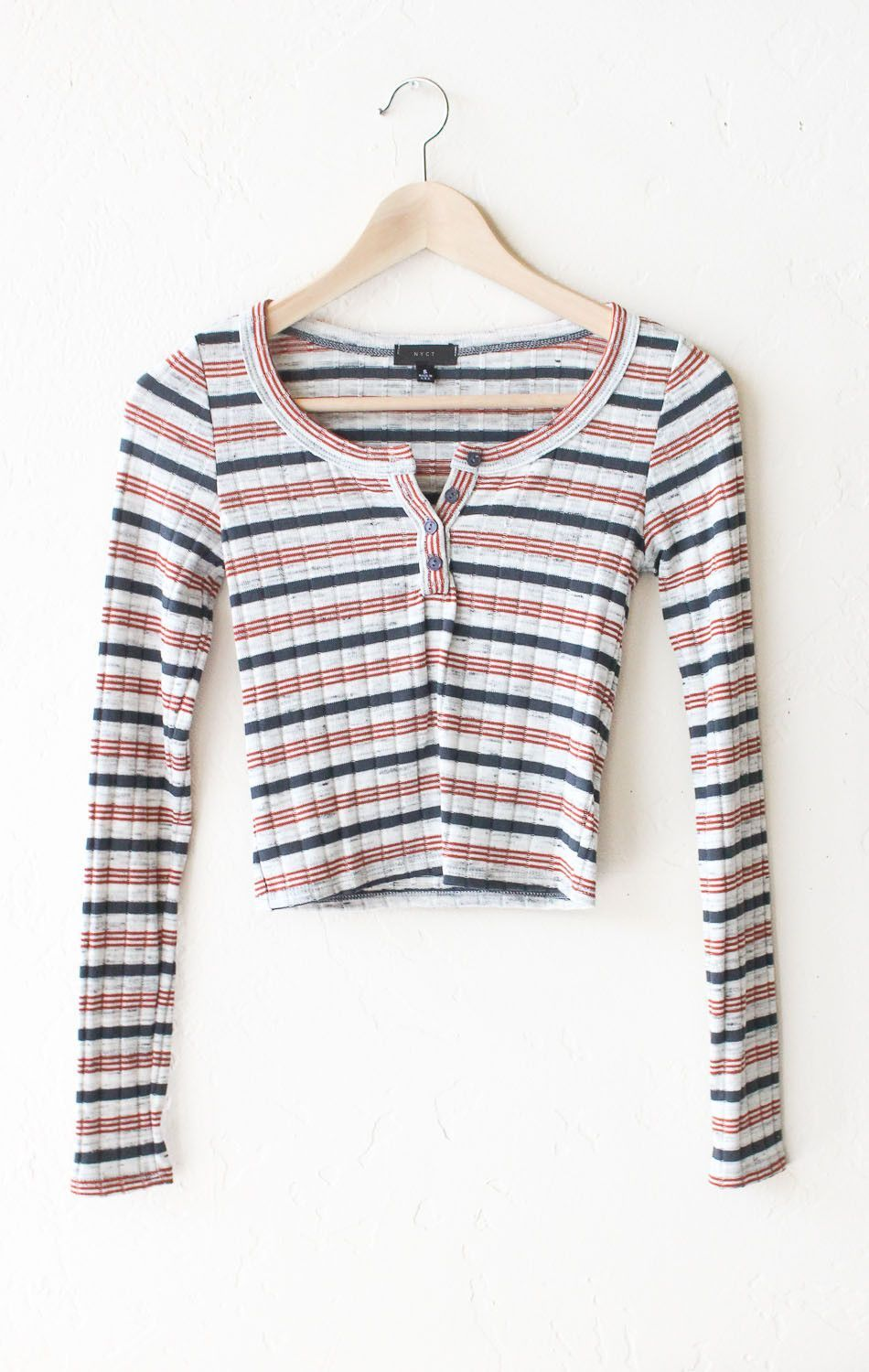 241b6f1fa8b3d7 Striped Long Sleeve Crop Top | Clothes, Shoes & Accessories! | Long ...