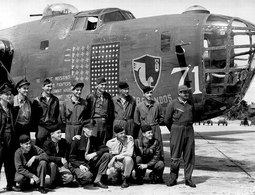 B-24 Liberator and Crew
