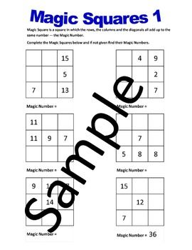 Magic Squares 1