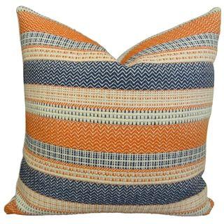 Sweet Jojo Designs Navy Blue And Orange Stripe Decorative