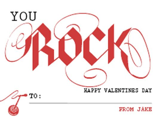 image regarding You Rock Valentine Printable identified as on your own rock valentine printable - Google Glance strategies Pleased