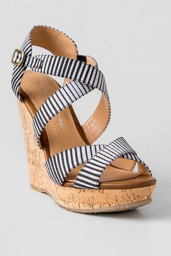 Chinese Laundry Shoes Marianne Striped Wedge Striped Wedges Chinese Laundry Shoes Shoes