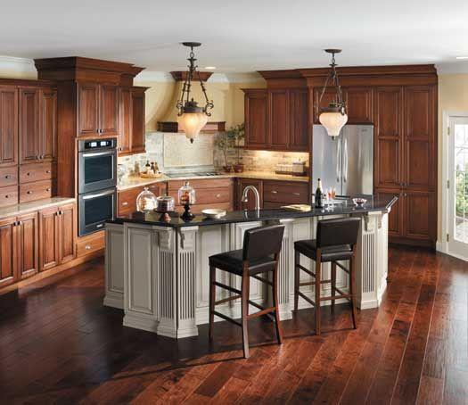 Kitchen Floor Cabinet Combinations: StarMark Cabinetry - Another Dark Cabinet / Flooring Combo