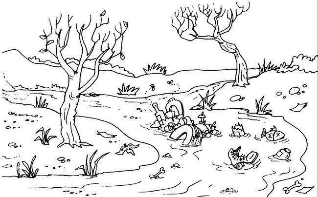 Dibujos Rio Contaminado Educacion Infantil Medio Ambiente Para Colorear Medio Ambiente Contaminado Imagenes Del Medio Ambiente