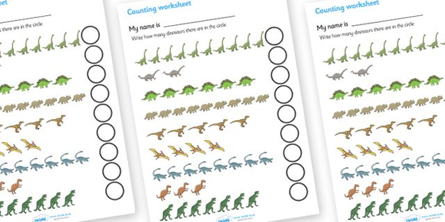 twinkl resources dinosaur counting worksheet classroom printables for pre school kindergarten. Black Bedroom Furniture Sets. Home Design Ideas