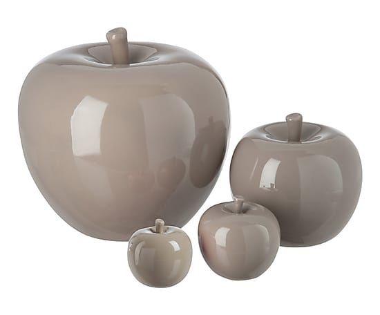 Pomme c ramique taupe 16 d co maison pinterest taupe pomme deco et pommes - Pomme ceramique pour decoration ...