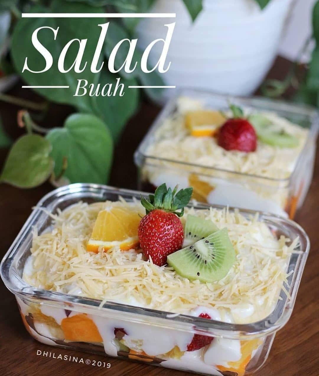 Inspirasi Resep Mudah On Jangan Lupa Tap Love Yah Salad Buah Ala Dhilasina Untuk 1wadah Ukuran 10x15 1wadah Ukuran 10x10 Easy Smoothie Recipes Food Save Food