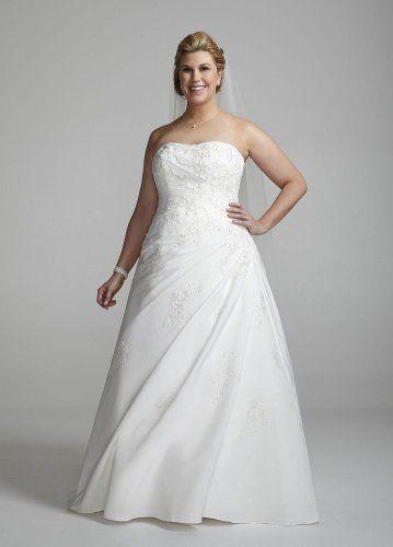 Amazon.com: David\'s Bridal Wedding Dress: Sweetheart Strapless ...