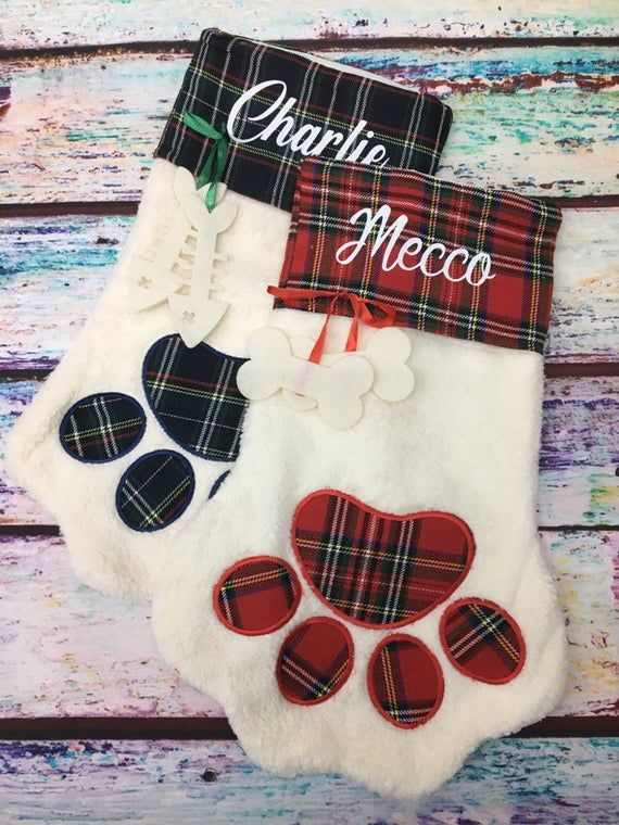 Personalized pet stockings, Blank pet stockings, Christmas