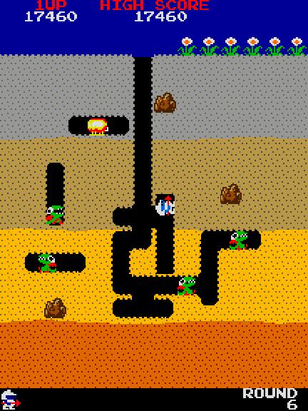 Dig Dug Arcade Classic Video Games Arcade Retro Gaming