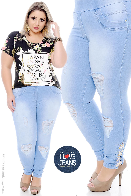 a48146762 Calça Skinny Jeans Plus Size - Coleção I Love Jeans Plus Size -  daluzplussize.com.br