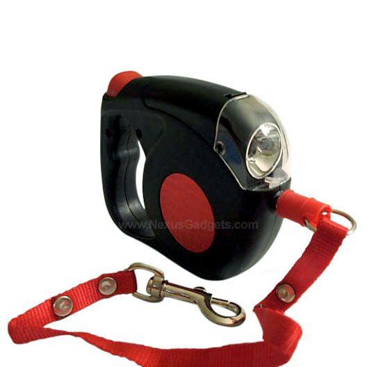Retractable #Dog Leash with Flashlight. $14.95 #NexusGadgets