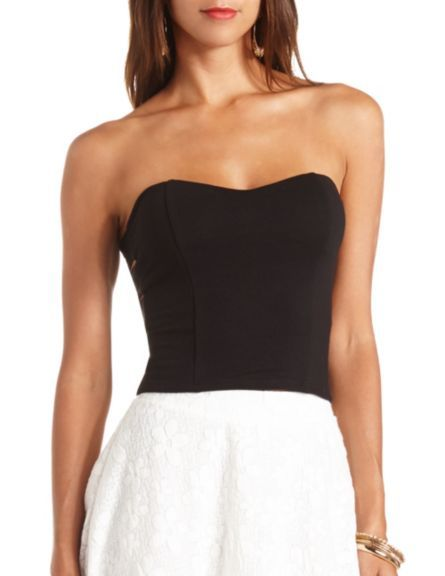 8576d72e3b3 Side Cut-Out Sweetheart Tube Top  Charlotte Russe