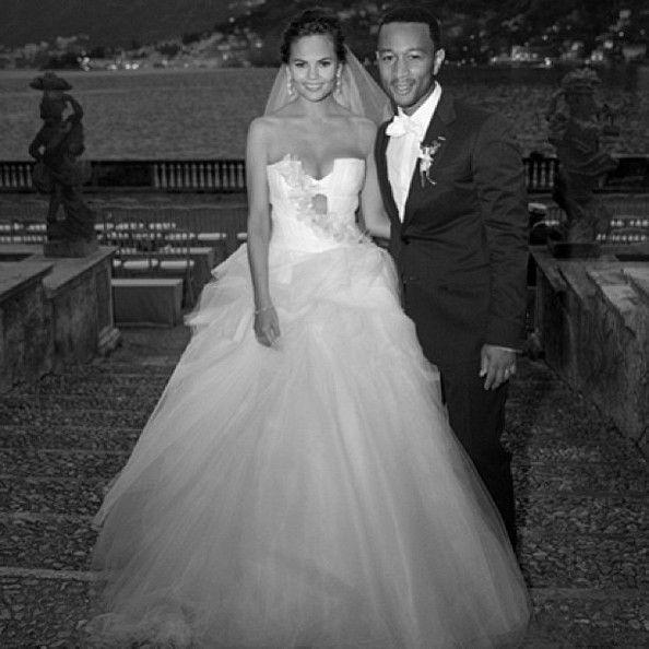 Chrissy Teigen Wedding Dress Chrissy Teigen Wedding Celebrity Bride Celebrity Weddings