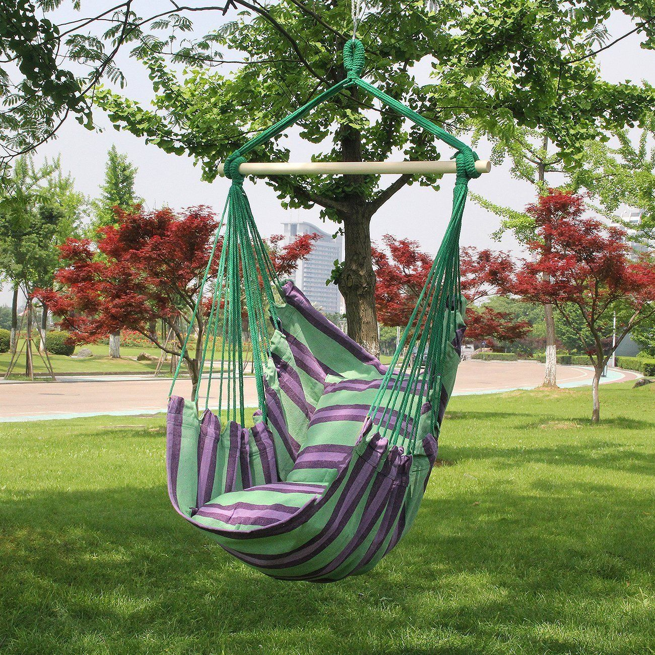 Vipseller hanging rope hammock chair swing seat indoor outdo