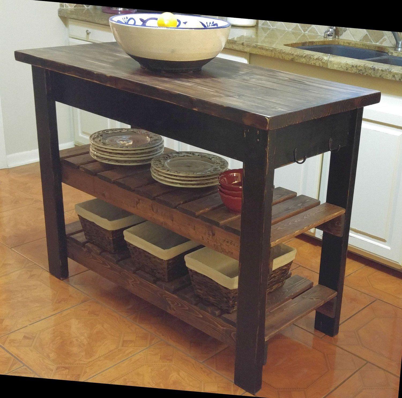 Custom Hand Built Kitchen Island Already Assembled Free In 2020 Build Kitchen Island Dark Wood Stain Kitchen