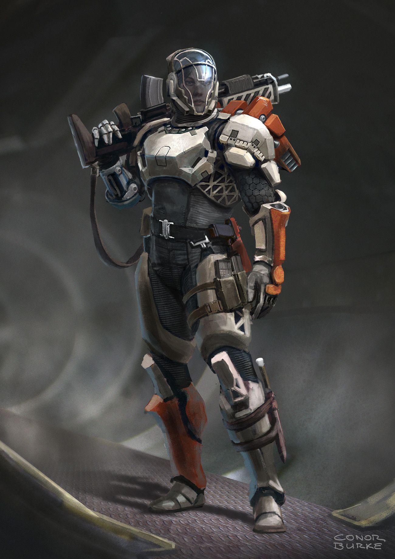 Artstation Sci Fi Character Design Conor Burke Battle Armor