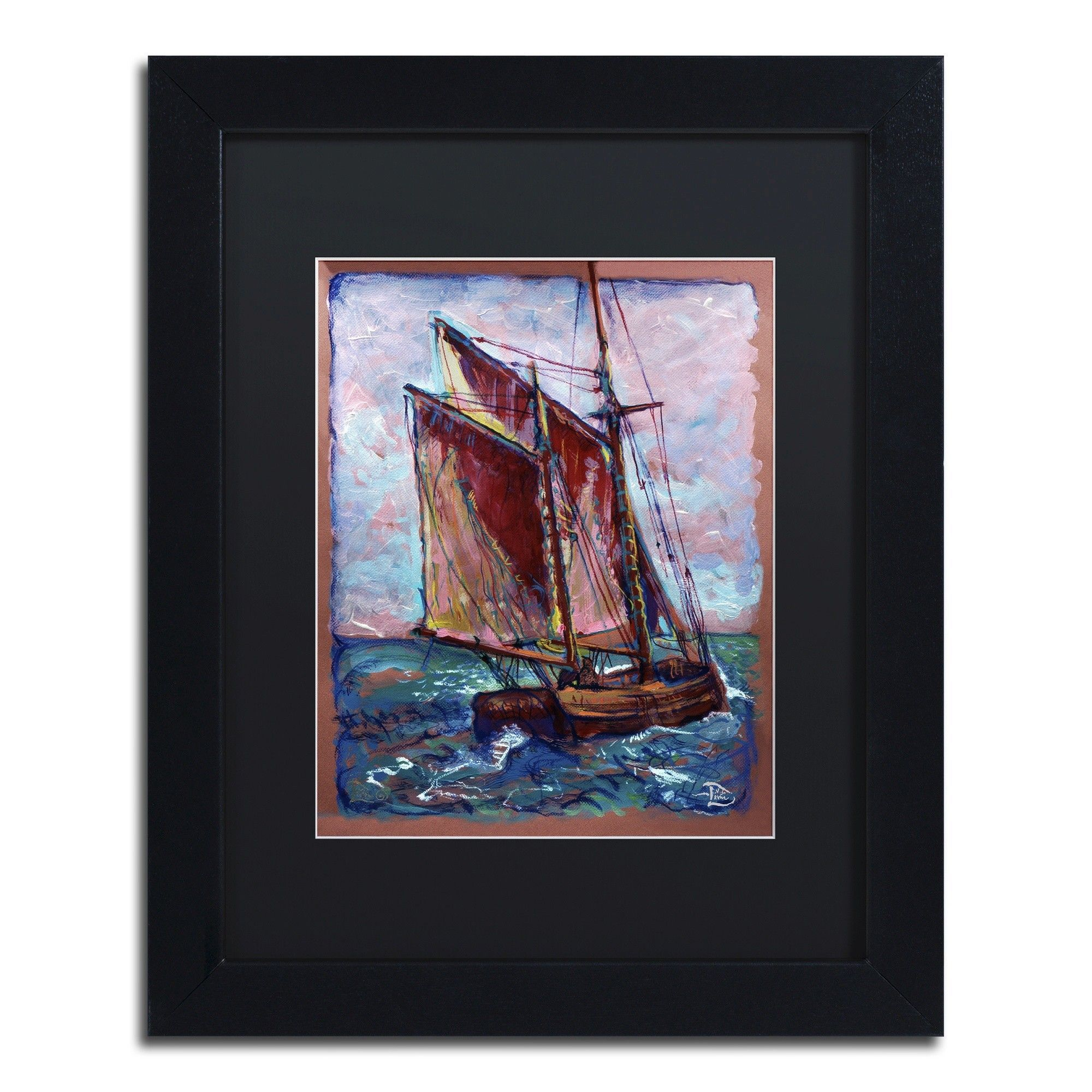 Fresh Gale by Lowell S.V. Devin Matted Framed Painting Print ...