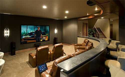 Man Cave Theatre Room Bar Seating In The Back In 2019