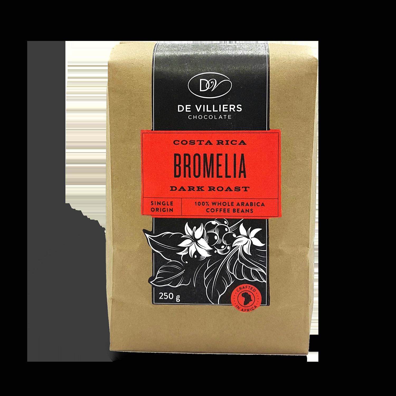 De Villiers Dark Roasted Coffee Beans Costa Rica Bromelia In 2020 Coffee Bean Bags Dark Roast Coffee Coffee Roasting