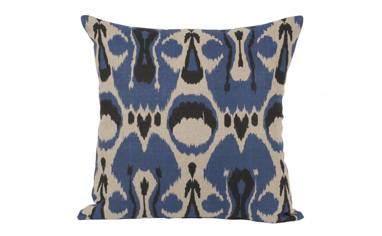 Ikat pillow indigo pillows accessories jayson home living
