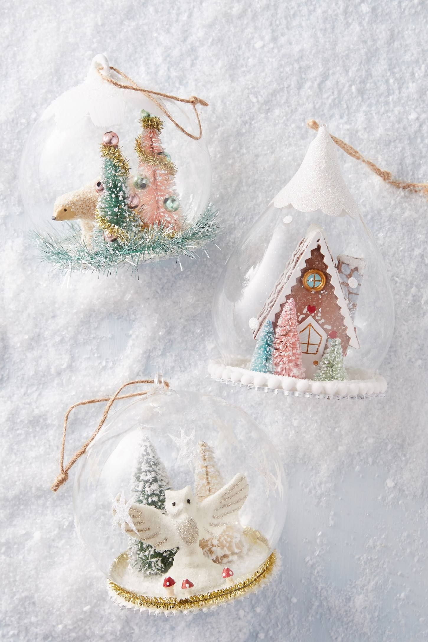 Shop The Gingerbread Snow Globe Ornament And More Anthropologie At Anthropologie Today Read Customer R Globe Ornament Christmas Crafts Diy Christmas Ornaments