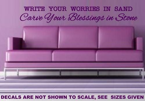 CARVE BLESSINGS INSPIRATIONAL QUOTE TYPE 1 WALL ART STICKER MED VINYL DECAL