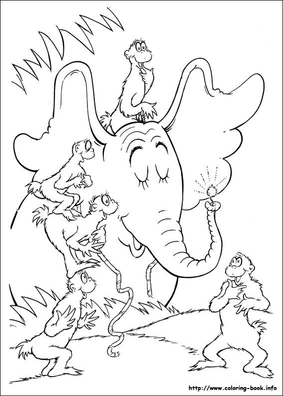 Horton coloring picture | DreamWorks/Pixar Coloring Pages | Pinterest