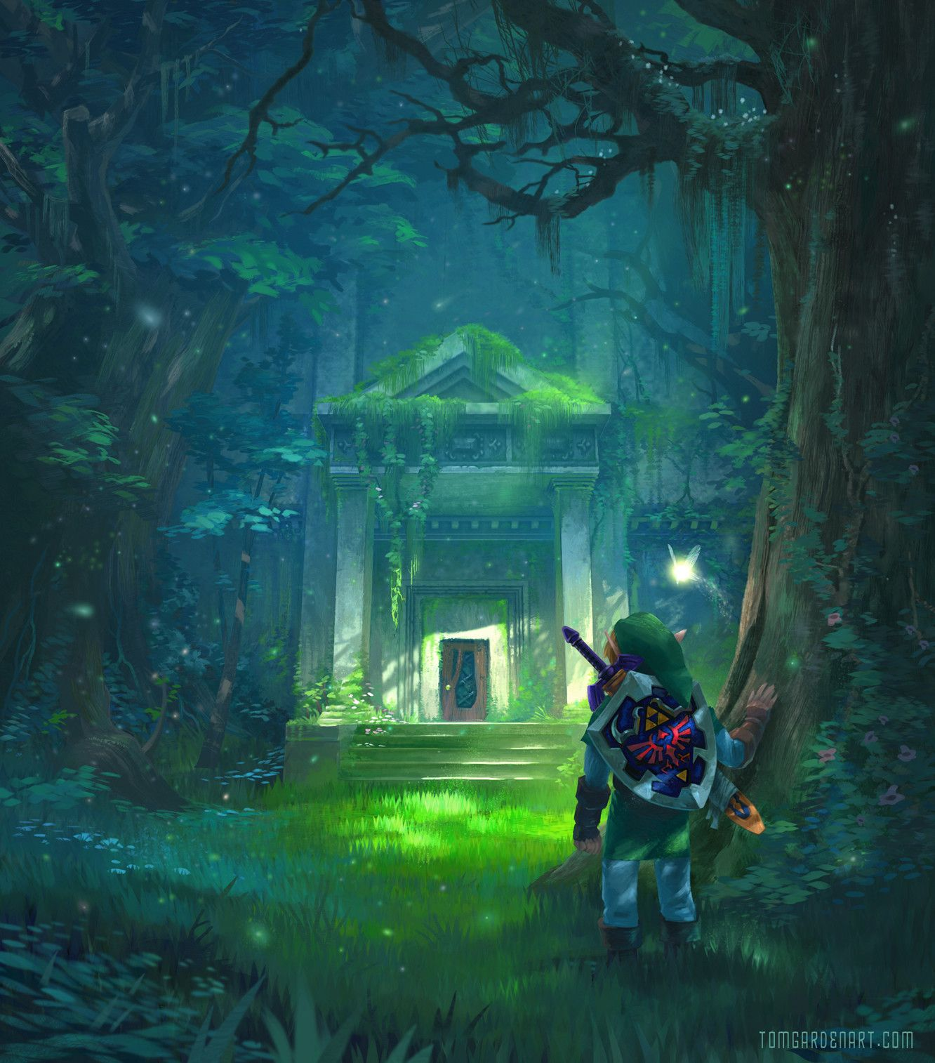 Ocarina Of Time Temples Tom Garden On Artstation At Https Www