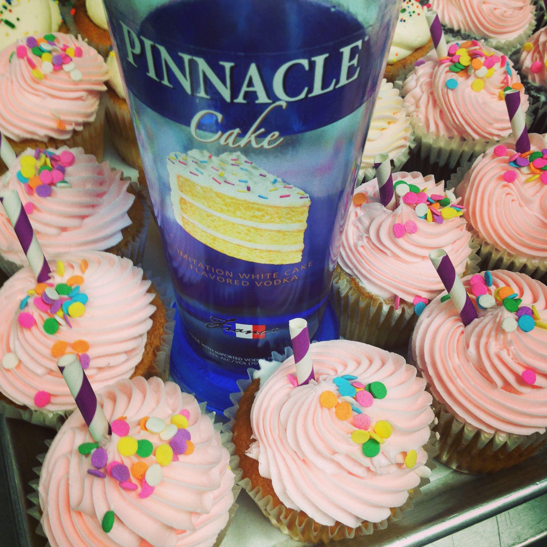 Pinnacle cake vodka booze cake cupcakes Foodgasmn Drinkgasmn
