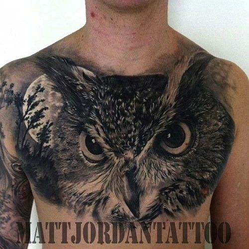 Amazing Owl Chest Piece !