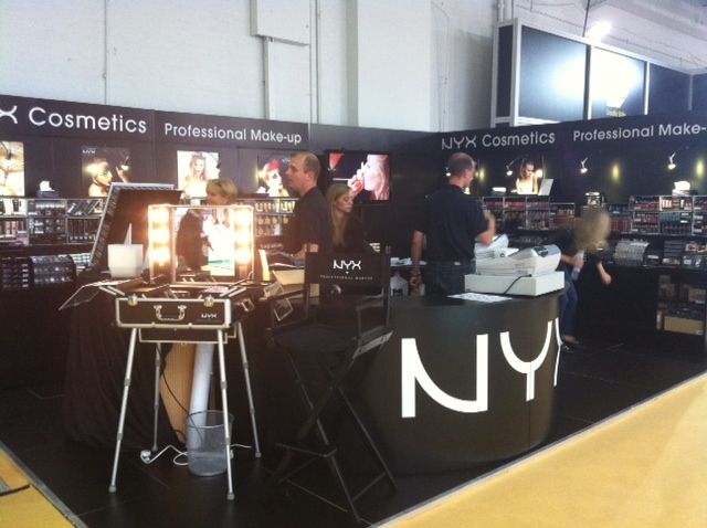 Trade Stands Olympia : Our nyx cosmetics uk stand olympia beauty design