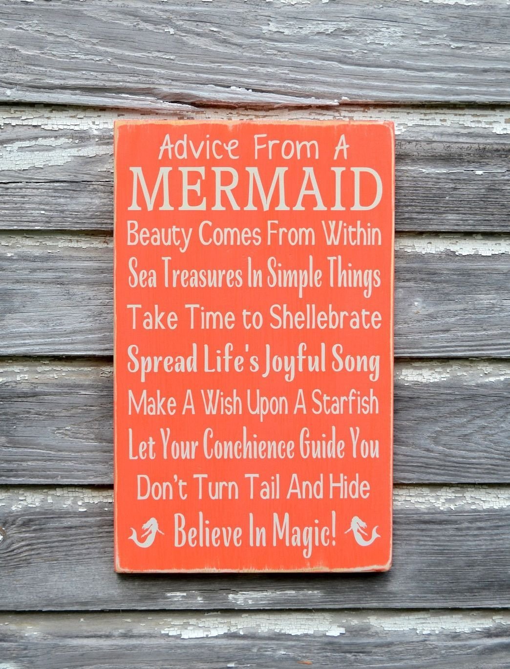 Beach Sign Decor Magnificent Mermaid Decor Beach Sign Custom Colors Advice From A Mermaids Inspiration Design