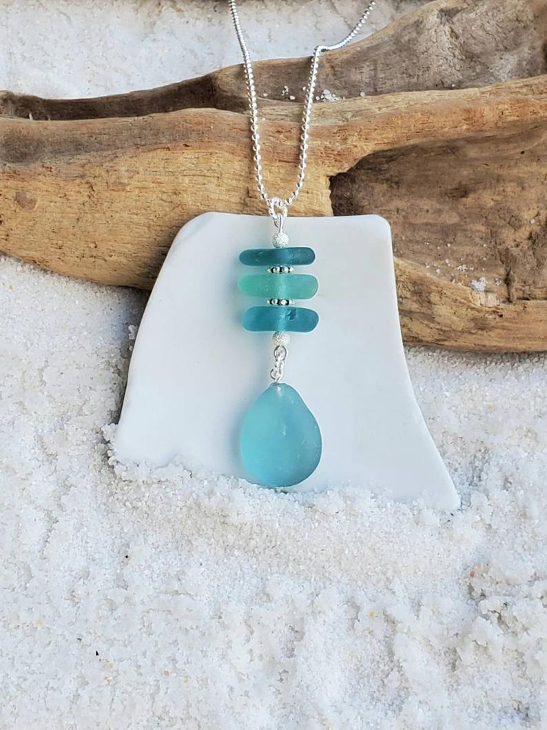 beach wedding sea glass necklace authentic white sea glass sterling heart necklace sea glass necklace sterling heart sea glass necklace