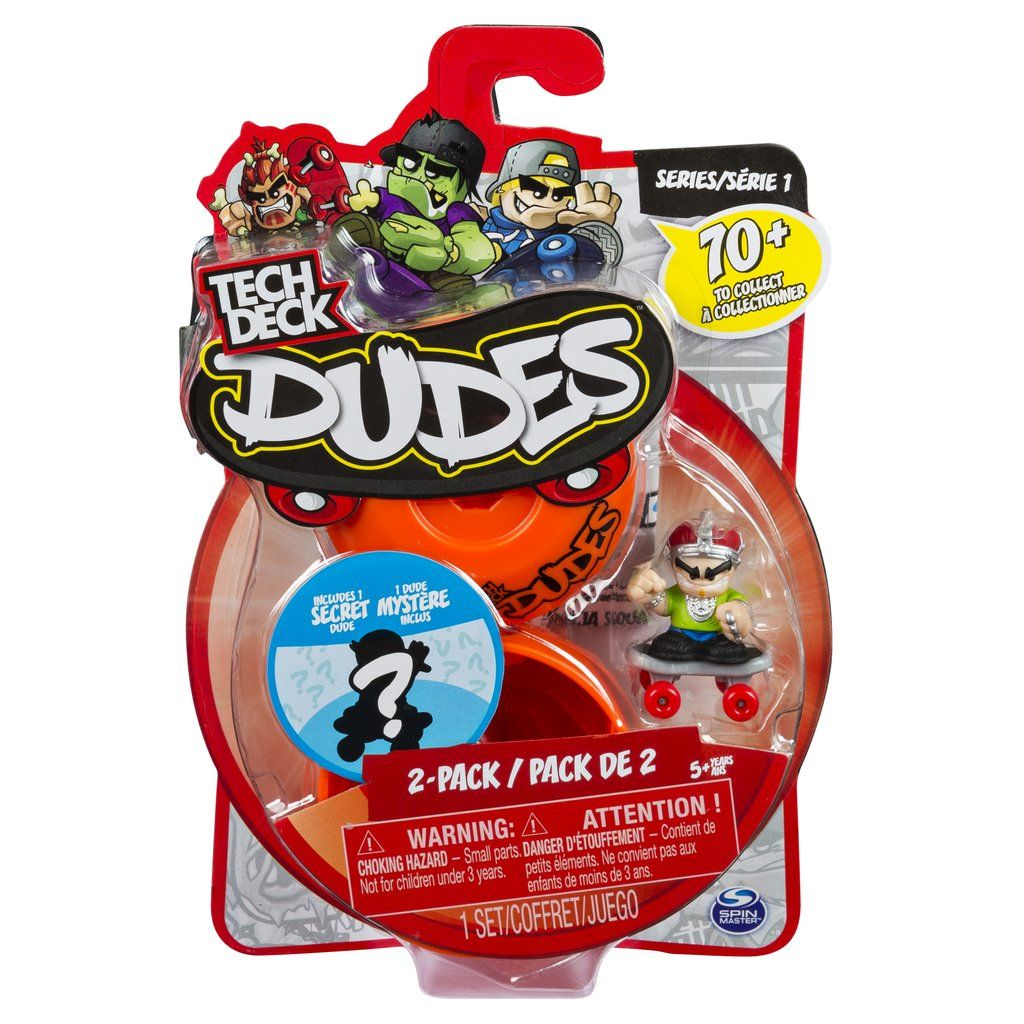 Tech Deck Dudes 2 Pack Collectible Skater Figures with