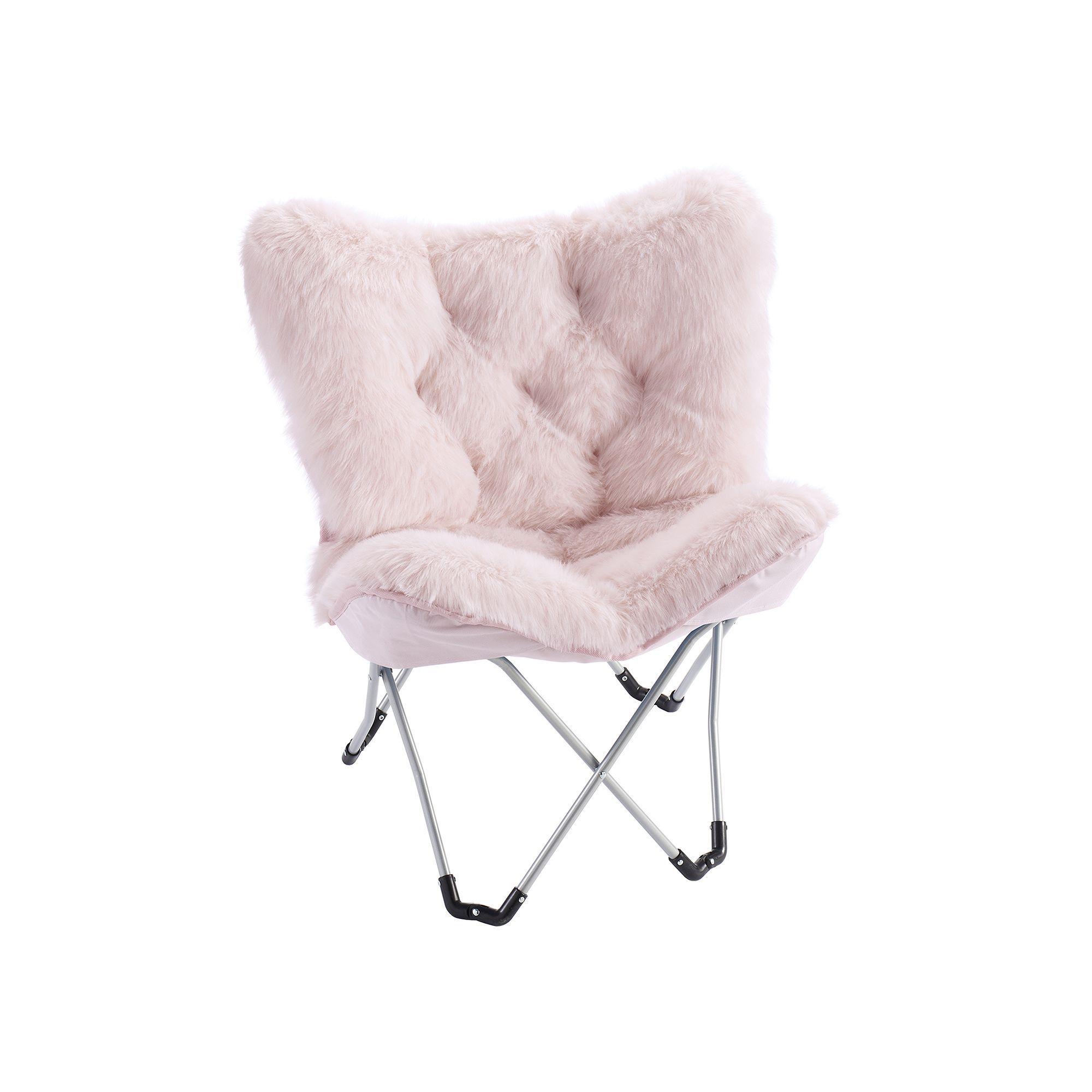 Simple By Design Memory Foam Butterfly Chair Brt Pink Butterfly