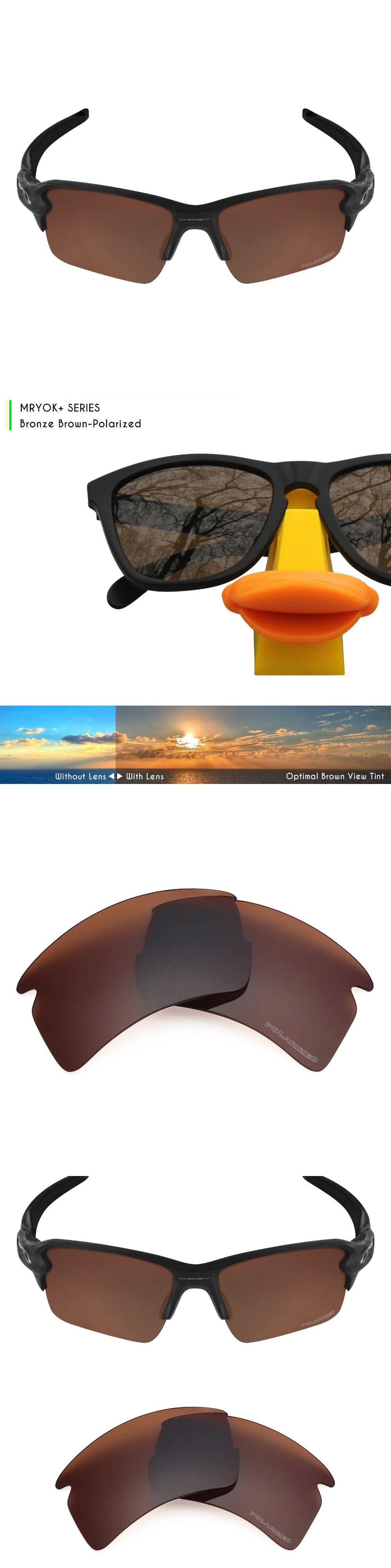 791e4a680e154 Mryok+ POLARIZED Resist SeaWater Replacement Lenses for Oakley Flak 2.0 XL  Sunglasses Bronze Brown
