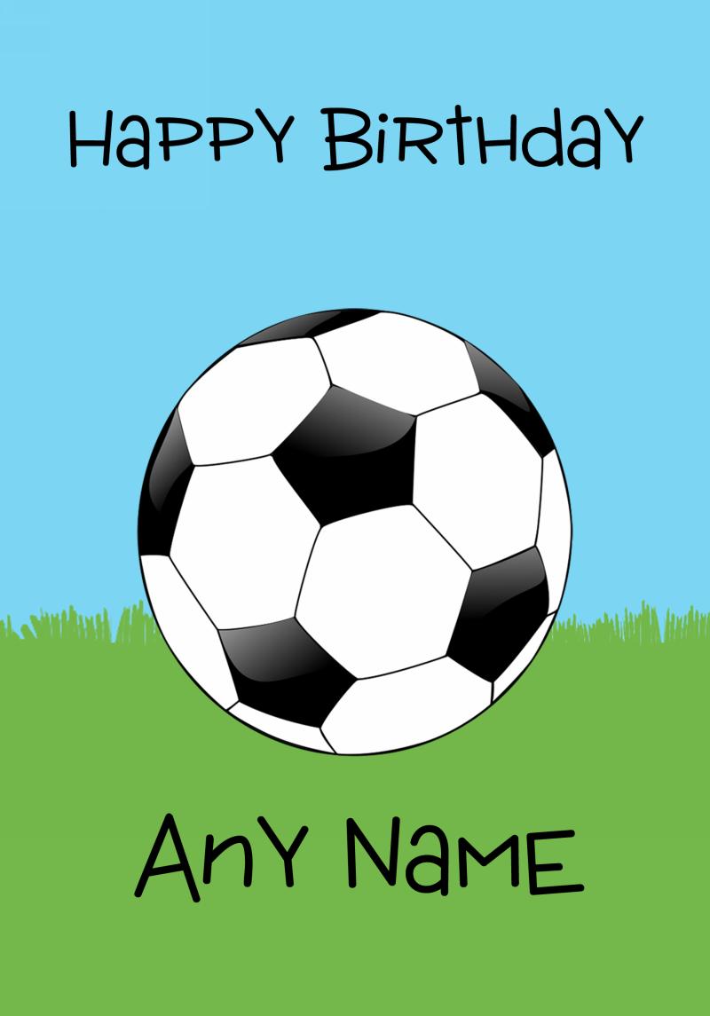 Birthday Card Football Google Search Football Birthday Birthday Cards Cards