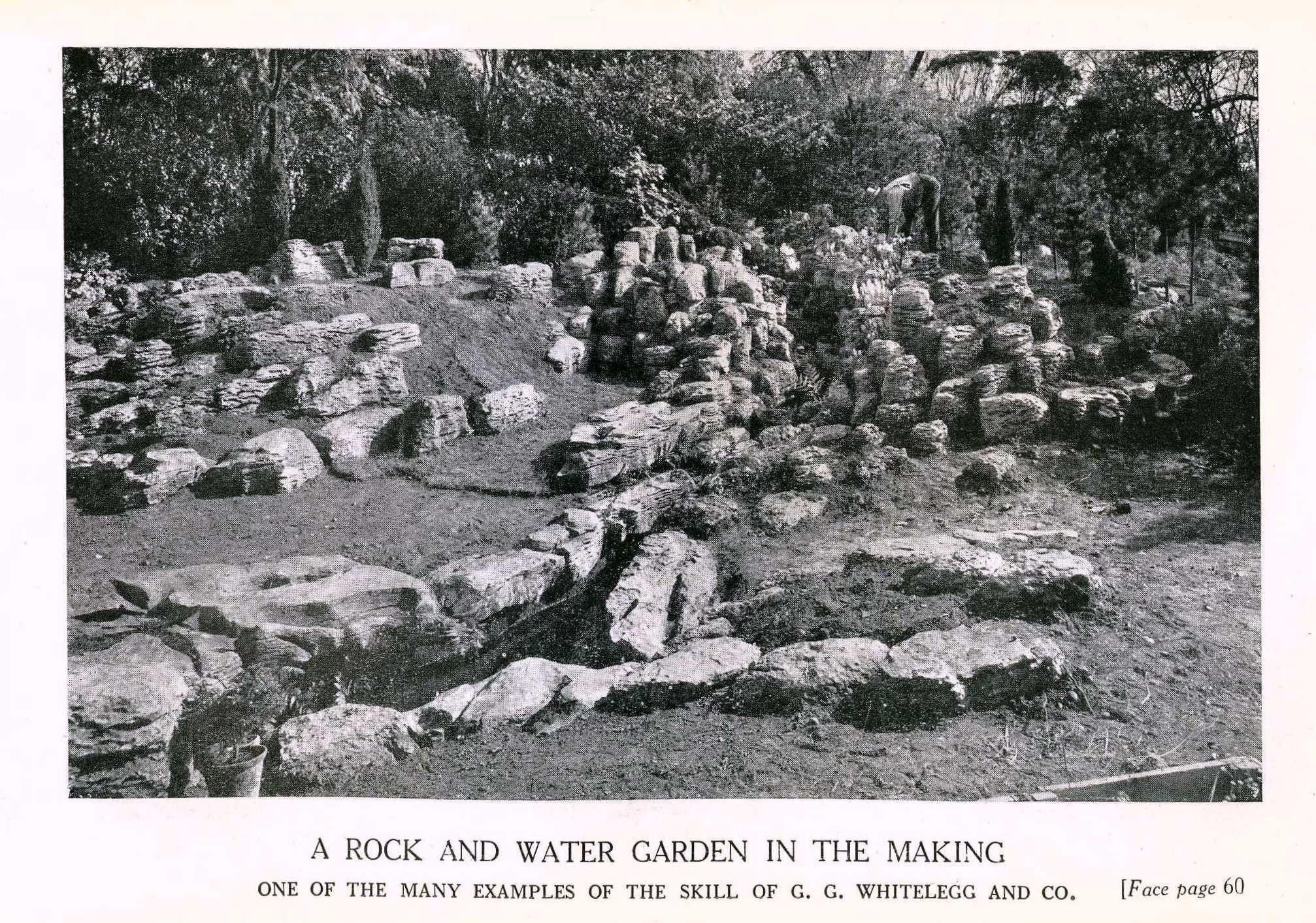 Jardín de rocas y agua Fuente: Henslow, T.; Geoffrey, W. Garden construction. London, 1923.