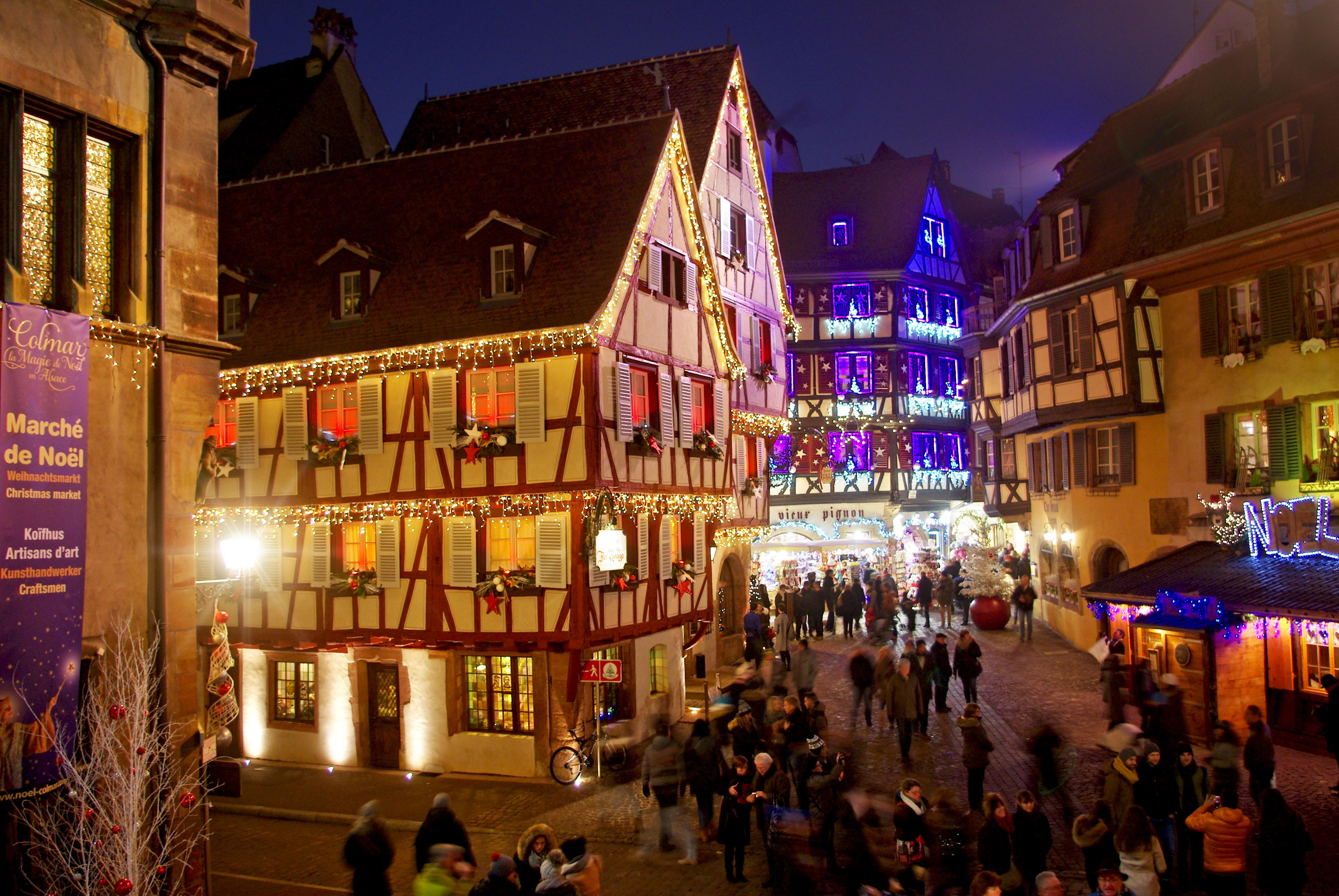 Colmar Christmas Market.Colmar Christmas Market France Old Town Alsace Great